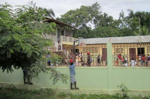 Schoolyard in Milot, Haiti